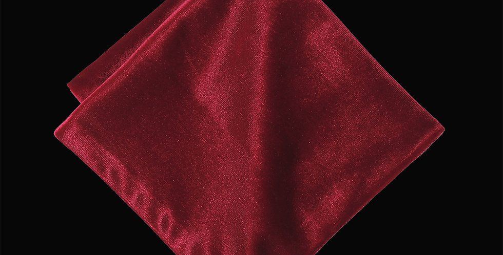 Vintage Red Velvet Pocket Square