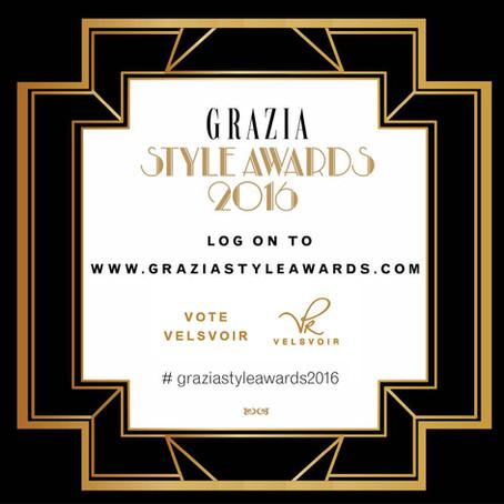 Velsvoir Nominated for Grazia Middle East Award