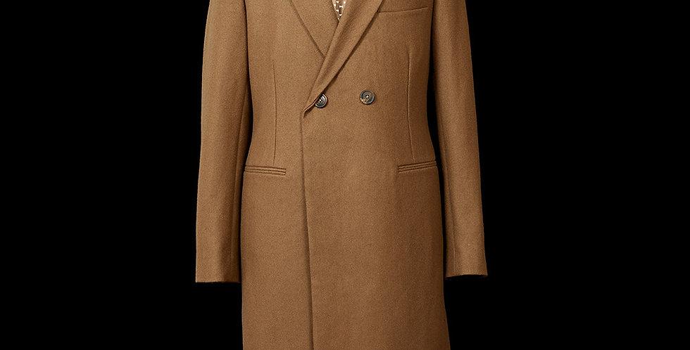 Peak Lapel Wool Coat