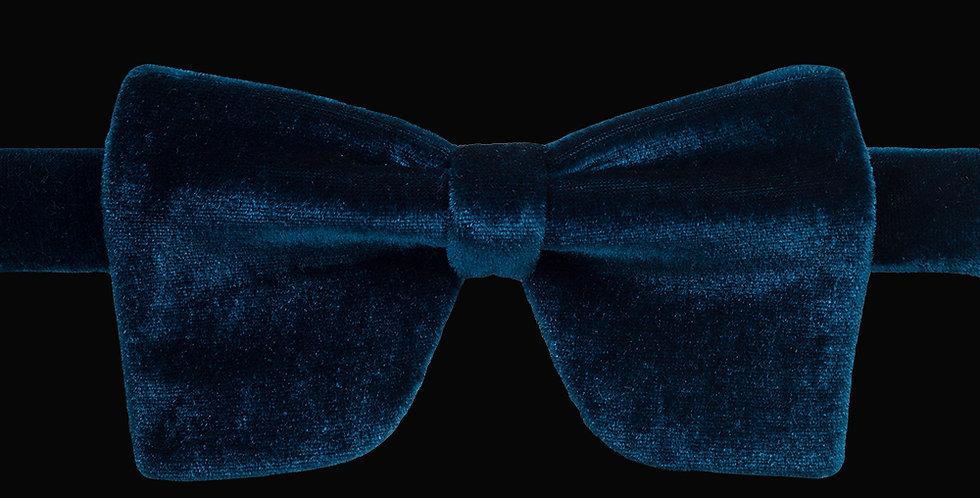 Teal Velvet Bow Tie