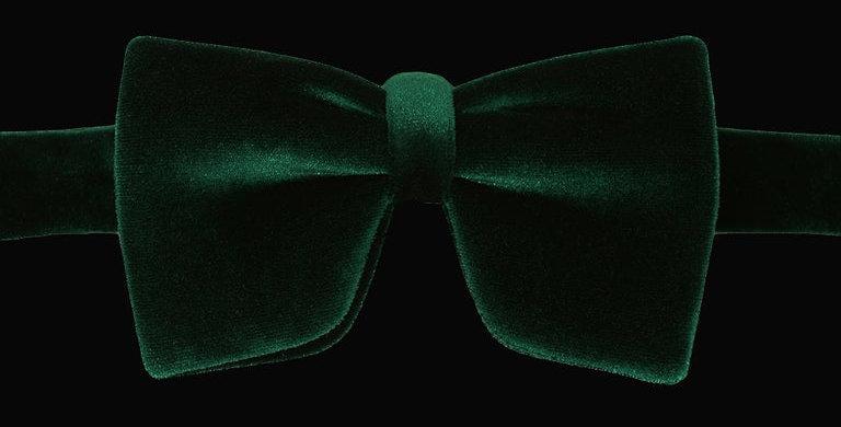 Emerald Green Velvet Bow Tie