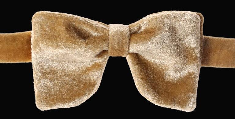 Gold Velvet Bow Tie