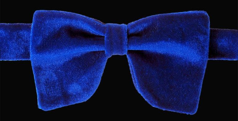 Royal Blue Velvet Bow Tie