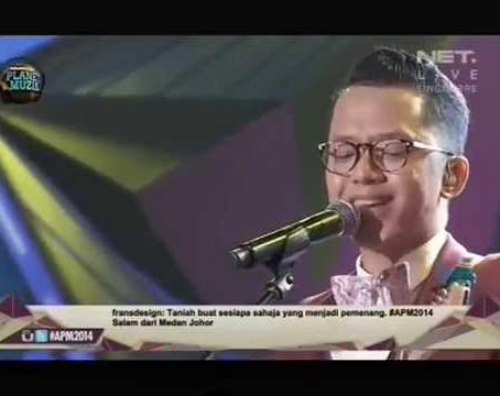 Sezairi at Anugerah Planet Muzik Awards Show 2014