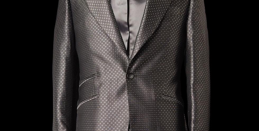 Silver Tuxedo Blazer