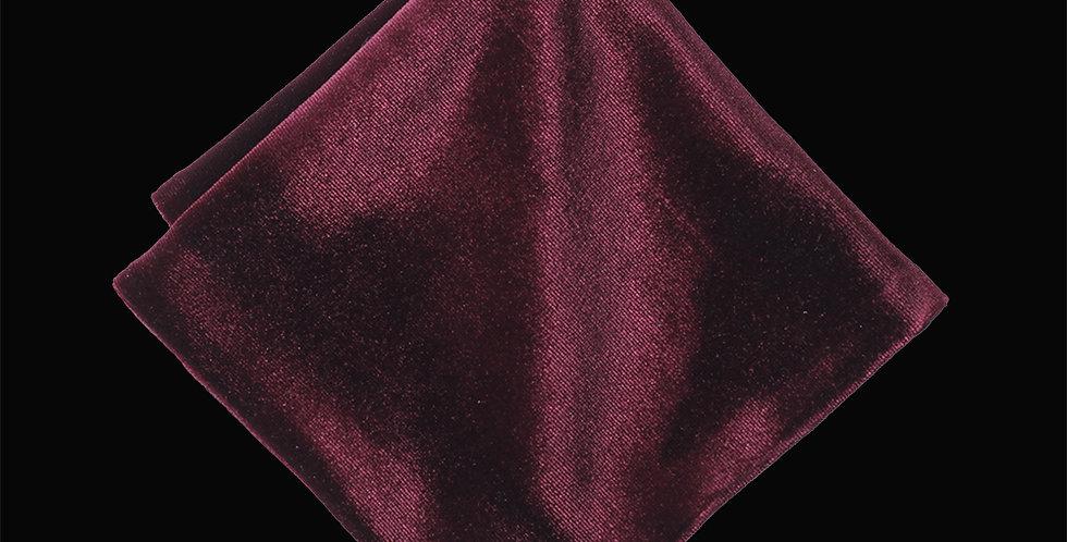Redcurrant Velvet Pocket Square