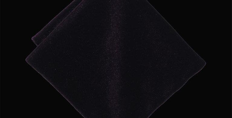 Black Velvet Pocket Square