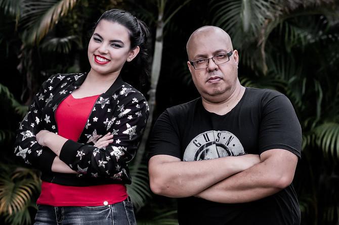 Filha e pai, parceria na música