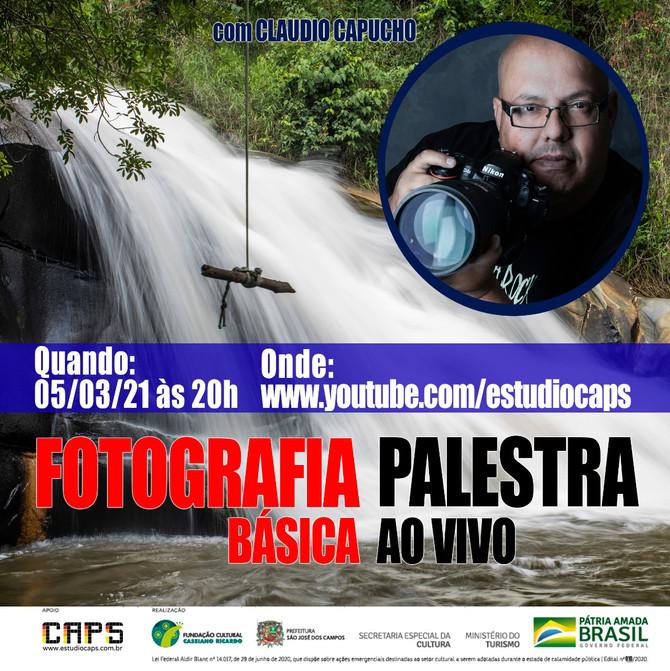 FOTOGRAFIA BÁSICA e PRODUÇÃO MUSICAL – COMO LANÇAR UM SINGLE, PALESTRAS QUE ACONTECERÃO EM MARÇO/21