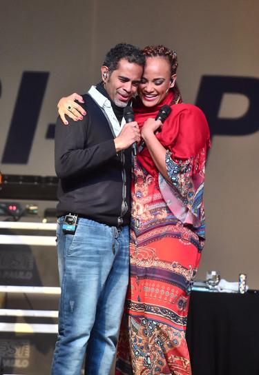 Jair Oliveira e Luciana Mello