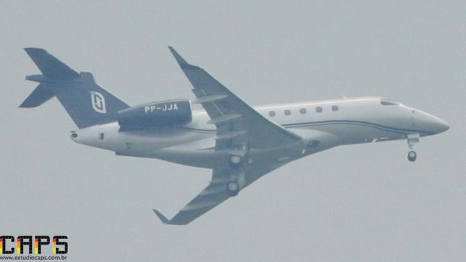 Voo de testes do Embraer Legacy 500 prefixo PP-JJA