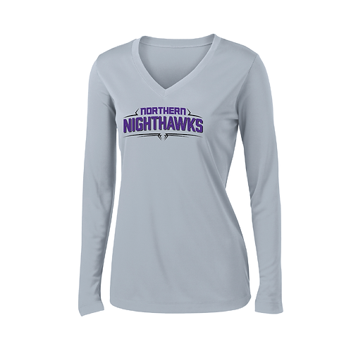 Ladies Nighthawks Performance LS Tee