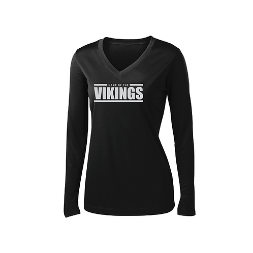 Ladies Vikings Perf Long Sleeve Tee