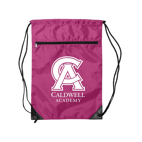 Caldwell Drawstring Bag - With Pocket
