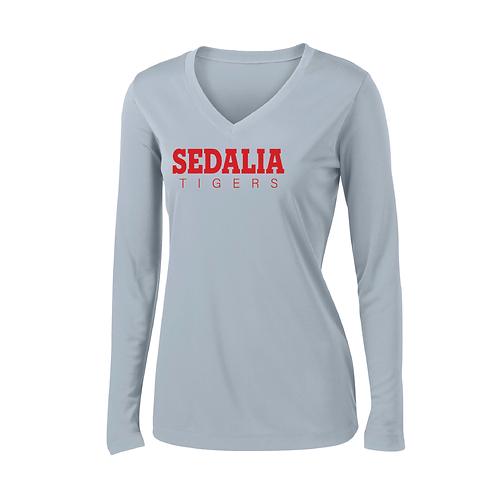 Ladies Sedalia Perf Long Sleeve Tee