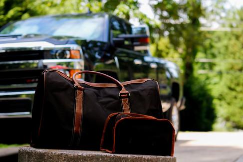 Mens duffel bag set