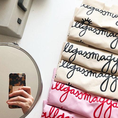 hallgassmagyart táska rózsaszín