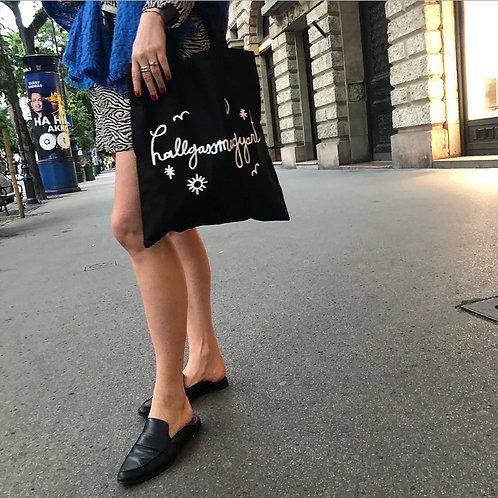hallgassmagyart táska fekete