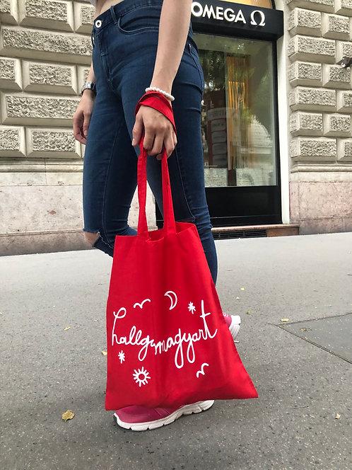 hallgassmagyart táska piros