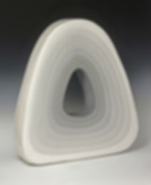Jane Grimm, Donut I, ceramic sculpture, 2013