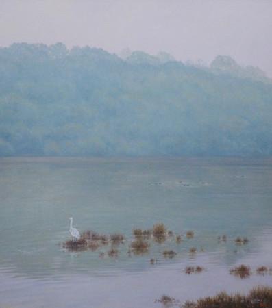 Landscape with Egret