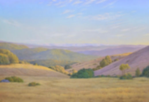 Willard Dioxn -View from the Fire Road - oil on canvas - 41 x 60 inches - 2019