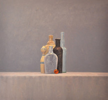 Still Life with Black Bottle
