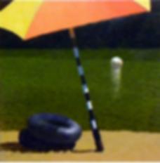 Mary Robertson, Cartoon Beach, oil on canvas
