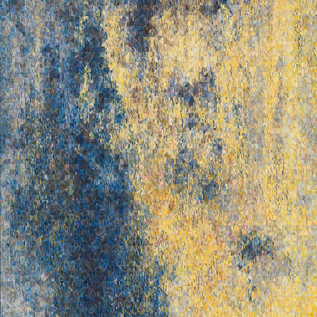 Composition. Yellow. Blue