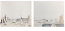 Roofs of Paris No. 1 & 2