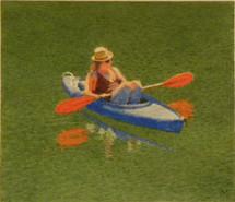 Girl in a Blue Kayak
