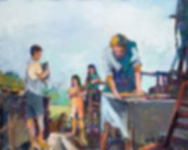 William Rushton oil on canvas - the apprentice