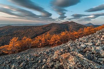 Горы Сихотэ-Алинь в октябре (хребет длин