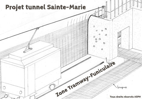 Zone Tramway Funiculaire tunnel Sainte-Marie