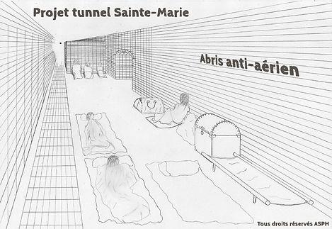 Zone abris anti-aérien tunnel Sainte-Marie