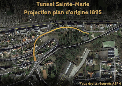 Tracé tunnel Sainte-Marie