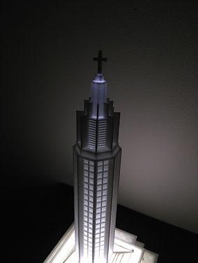 Eglise Saint joseph lumineuse éclairée Le Havre 3D