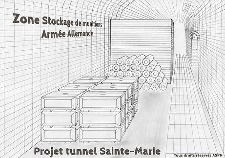 Zone Stockage de munitions tunnel Sainte-Marie