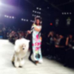 Bear and Model, Fashion Week, 2015 New York City