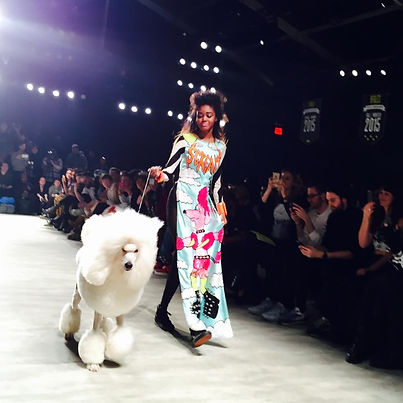 Bear and Model, Fashion Week, 2015 New York City