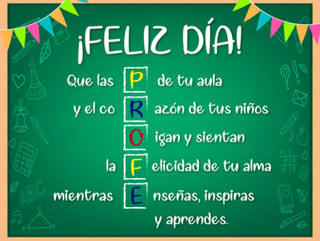 Feliz día profesor
