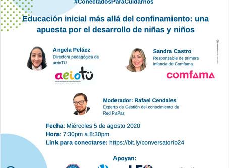 #ConversatorioVirtual 5 de Ago.: Educación Inicial Más Allá del Confinamiento