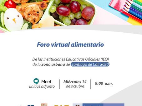 🙋🏽♂️ Primer foro virtual alimentario urbano