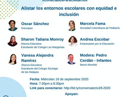 [Conferencia 💻] Alistar los entornos escolares con equidad e inclusión