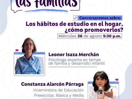💻 [Conversatorio Virtual] Los hábitos de estudio en el hogar, ¿cómo promoverlos? - Agosto 26