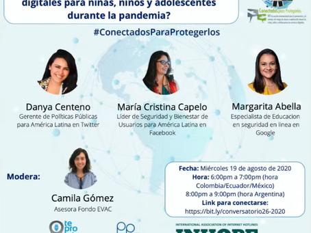 💻[Conversatorio Virtual]Riesgo digitales que enfrentan los niños y adolescentes durante la pandemia