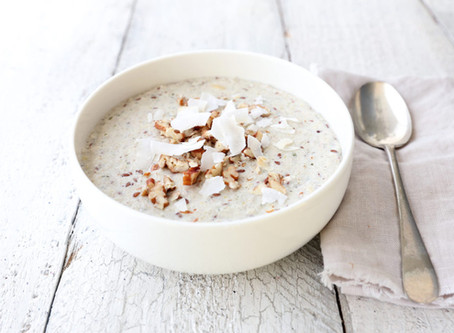 Rice porridge with milk in a multi cooker