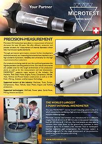 Microtest, 3-punts micrometer, micrometer, micrometers, micron micrometer, driepunts micrometer, 3 puntsmicrometer, Microtetst AG,