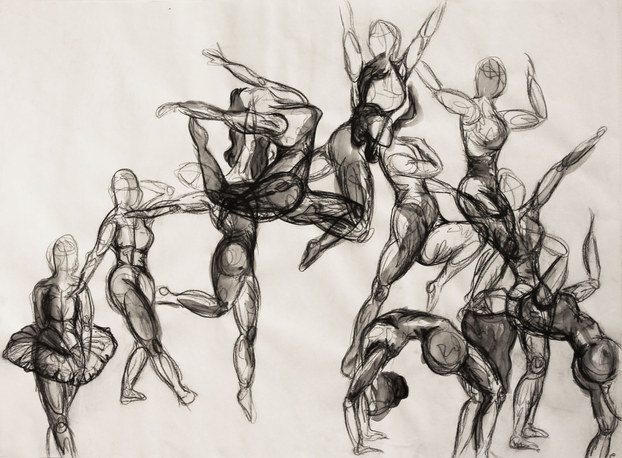 Drawing 1, Gesture Drawing Assignment, S