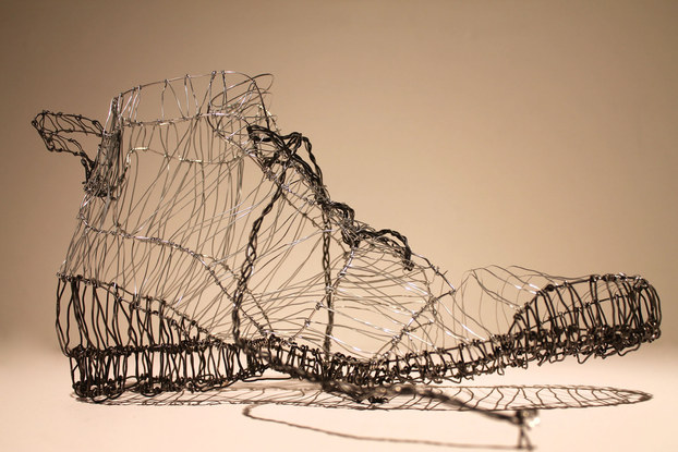 Intro to Sculpture, Wire Shoe Project, 1